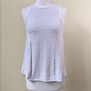 Anthropologie 9-H15 SCL Textured Lace Hem Tank